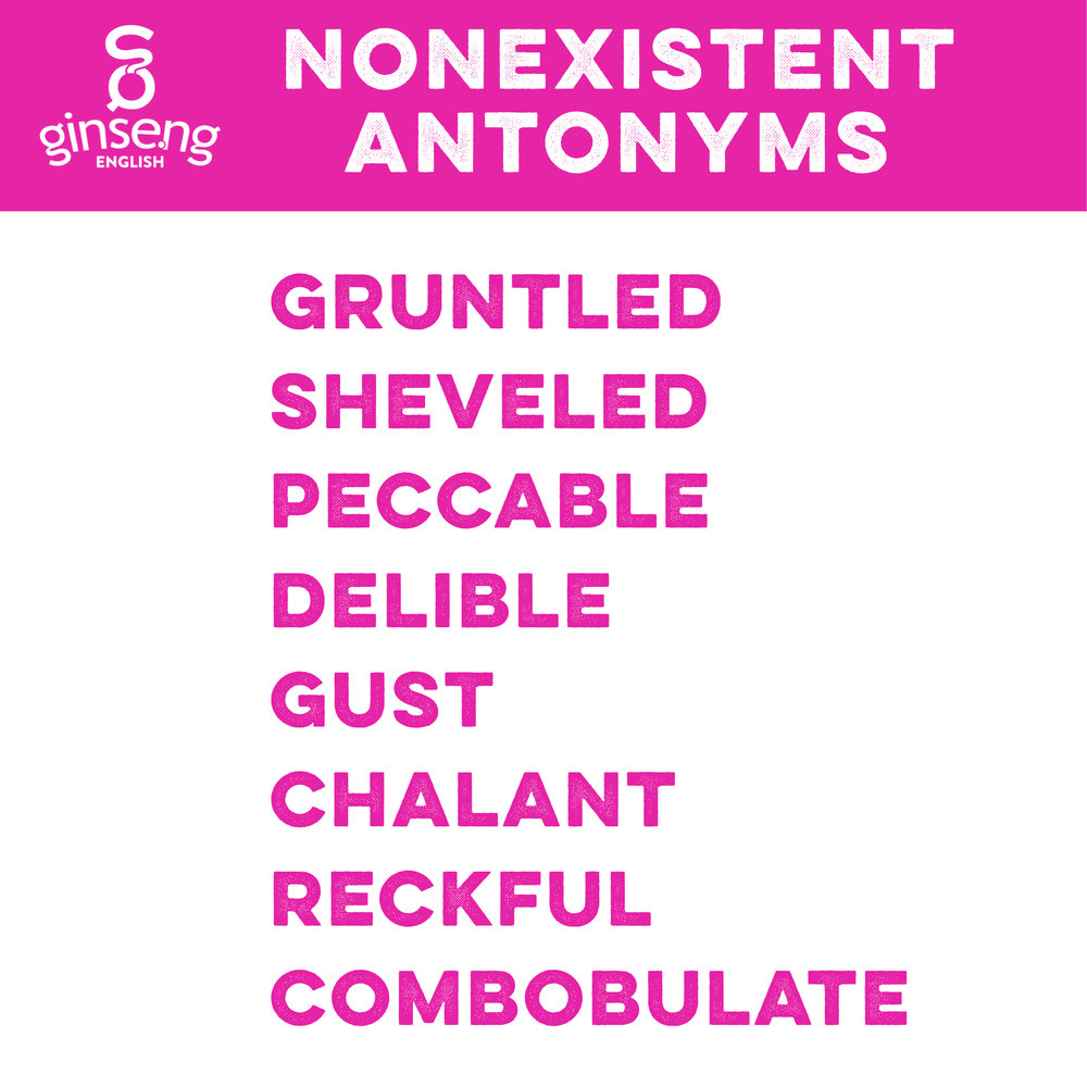Nonexistent Antonyms - Ginseng English