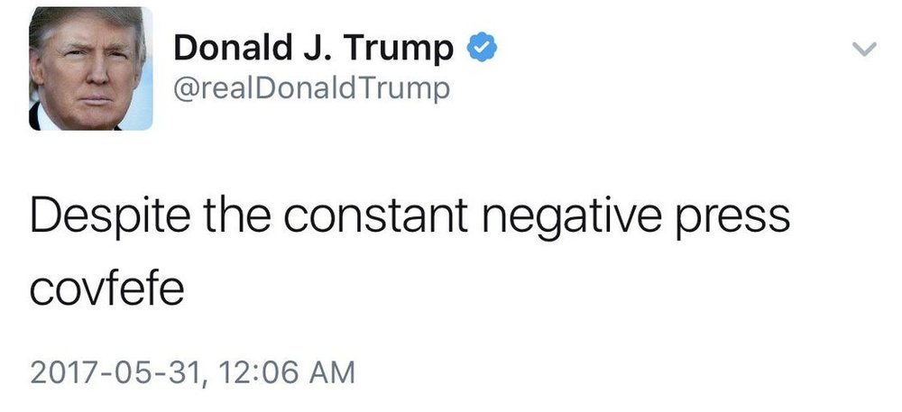 Trump Covfefe Tweet
