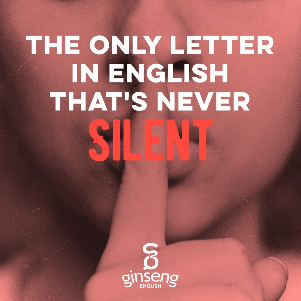 The only letter in English that's never silent