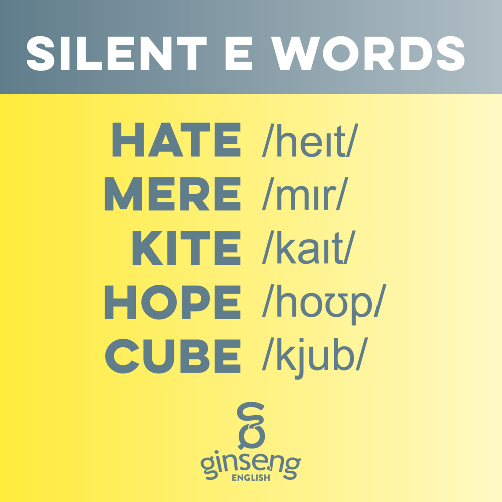 Silent E Words in English