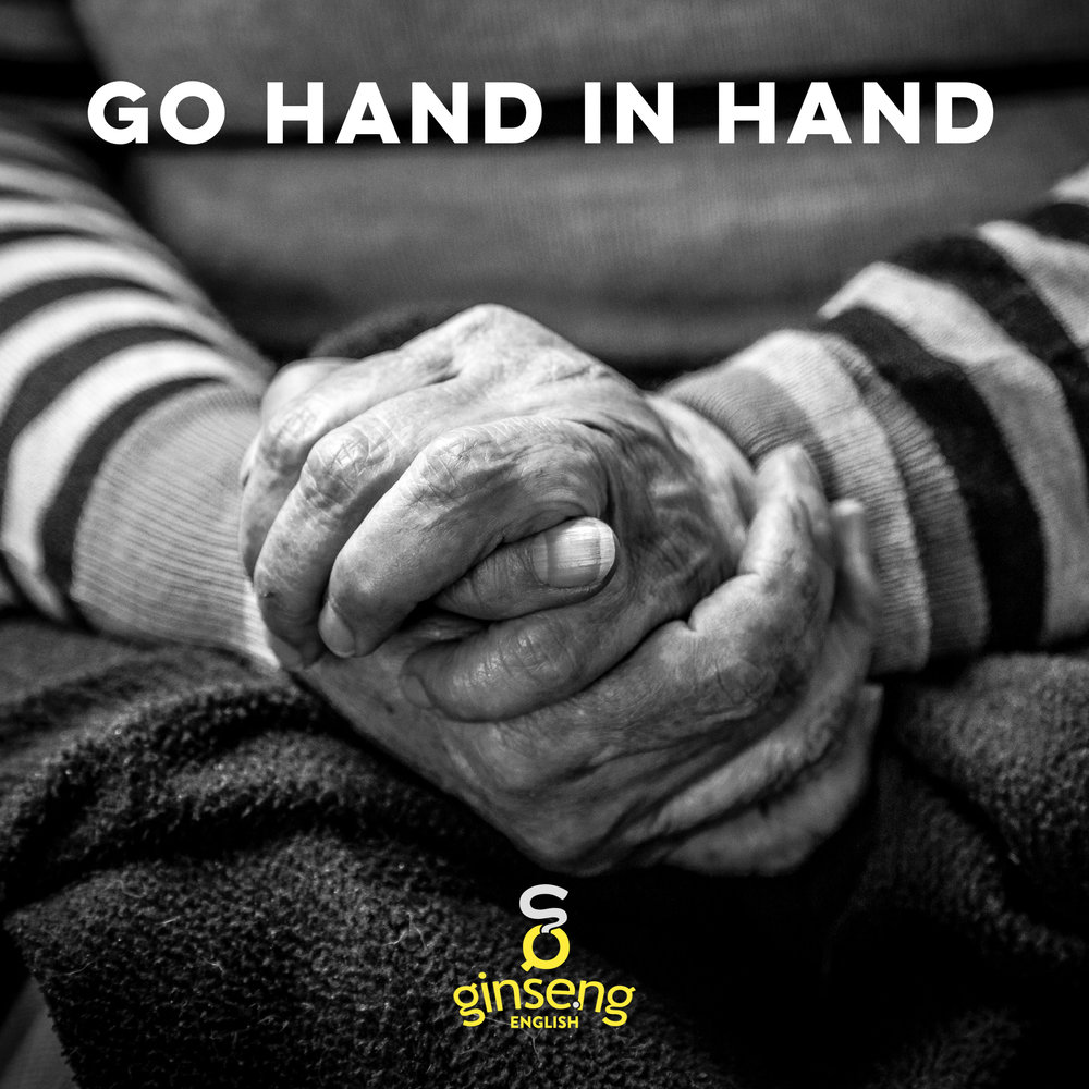 "Check out this blog post to learn what ""going hand in hand"" means!"