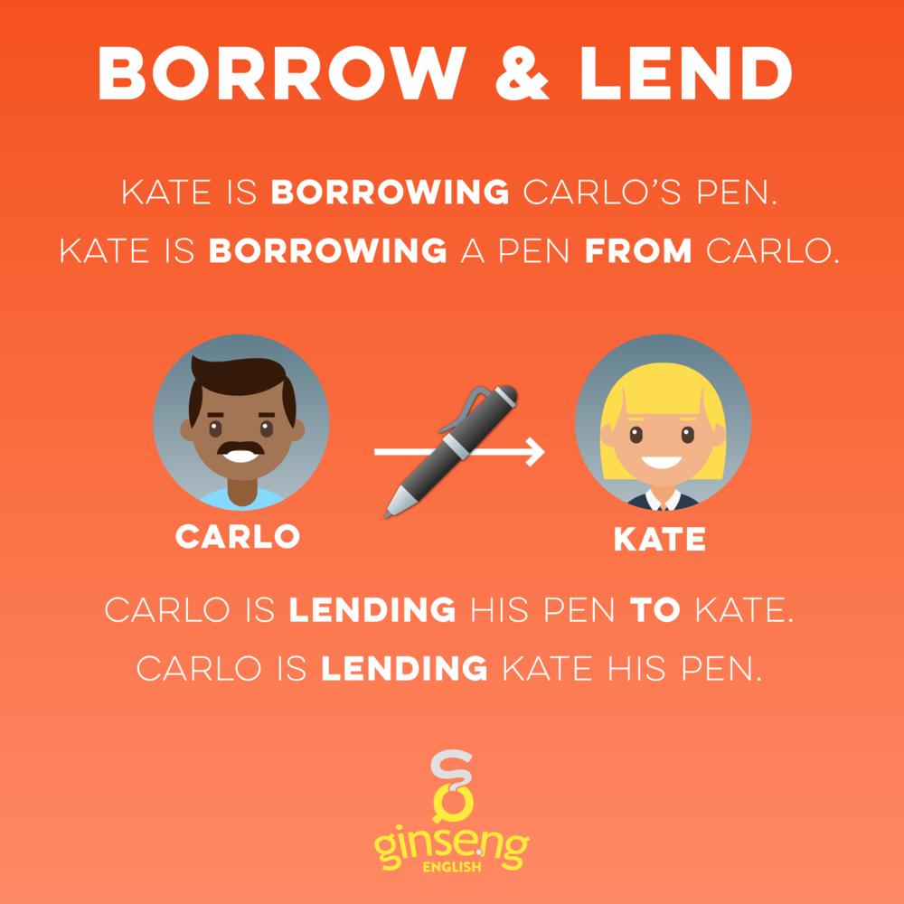 Borrow and Lend English Verbs