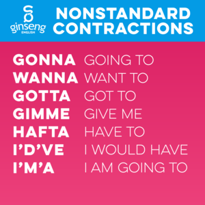 Nonstandard English Contractions