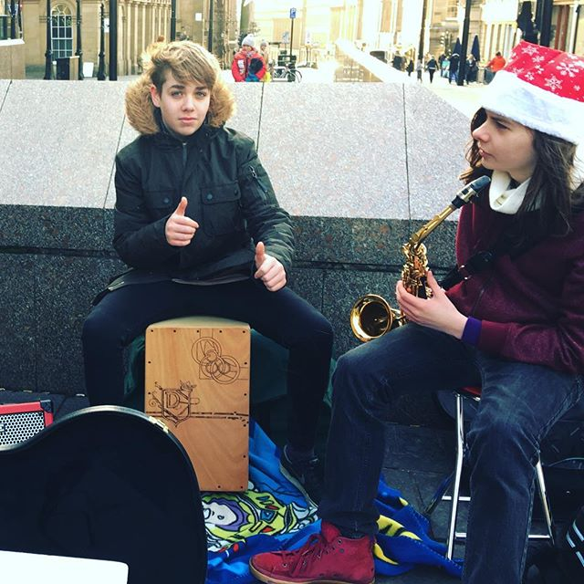 Dylan busking one of our great young drum stars now moved on to better things #drumstarsuk