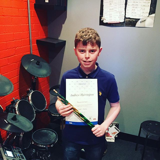 Congratulations to drum stars student Andrew who passed his grade 3 rockschool exam, with a merit as well! #drumstarsuk #drumstars #drumshop #drums #Rockschool