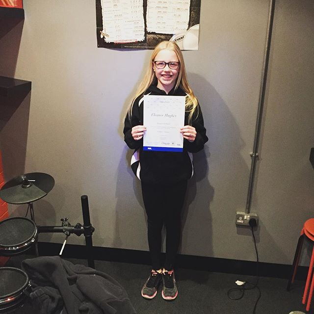 Congratulations to drum stars student Eleanor who passed her grade 3 rockschool exam, with merit #drumstarsuk #rockschool #drums #rslawards
