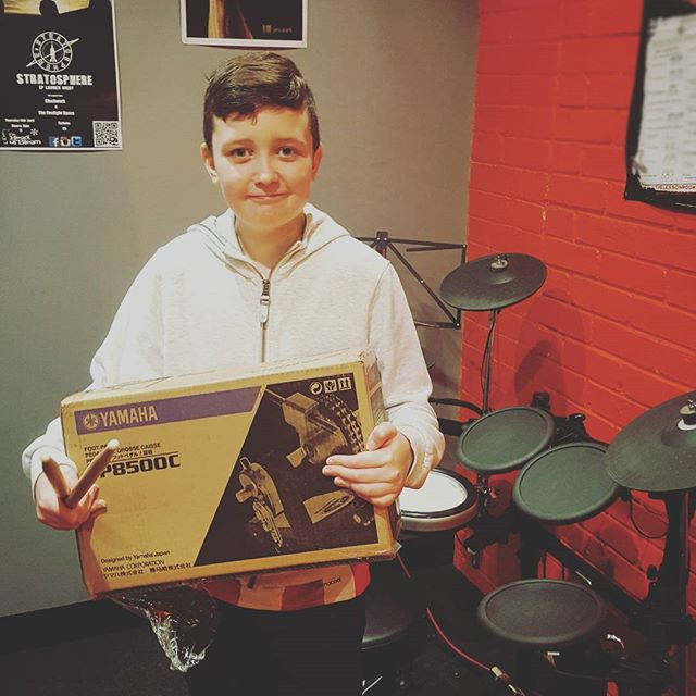Dan's chuffed with his Yamaha Future beat winnings! #drumstarsuk #drumshopuk #yamahafuturebeat  #yamahadtx