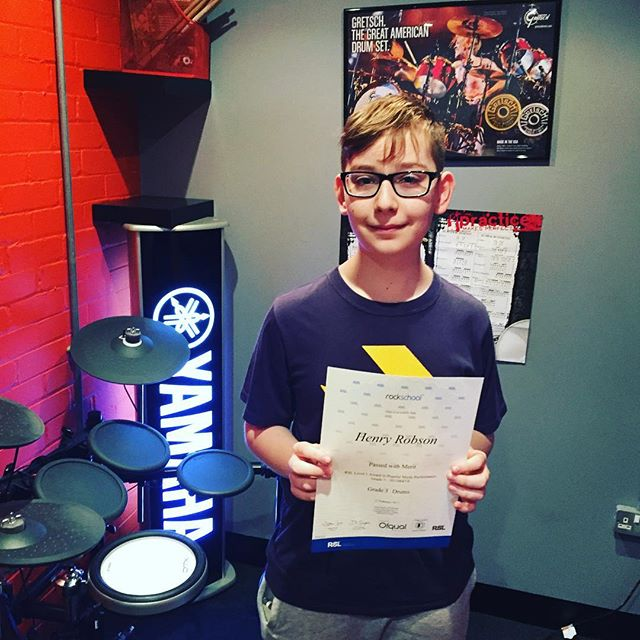 Congratulations to drum stars student Henry who passed his grade 3 rockschool exam a couple of weeks back #drumstarsuk #rockschool #rsl #rslawards #drums #yamaha