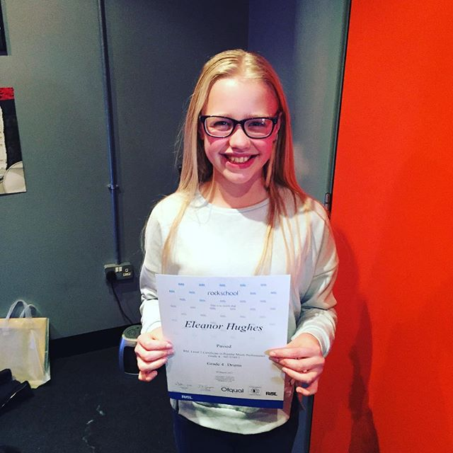 Congratulations to Eleanor for passing her grade 4 rockschool exam, only 2 months after her grade 3! #Drumstarsuk #Drumstars #Rockschool #Drums #RslAwards #Rsl #Drums #Yamaha