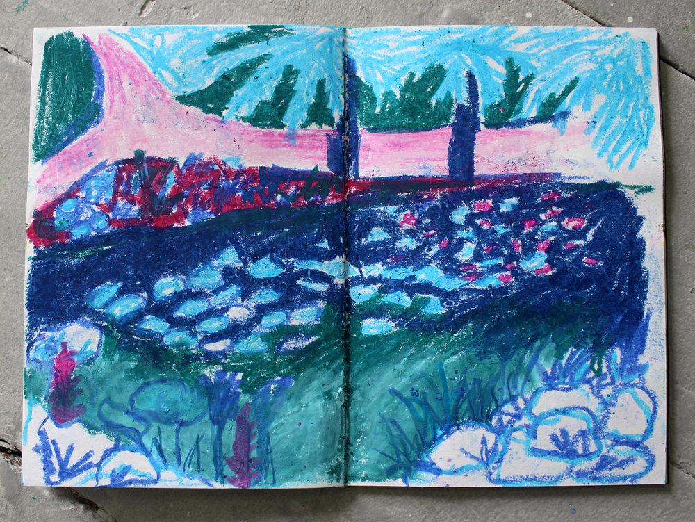 Sketchbook Page  Oil pastel