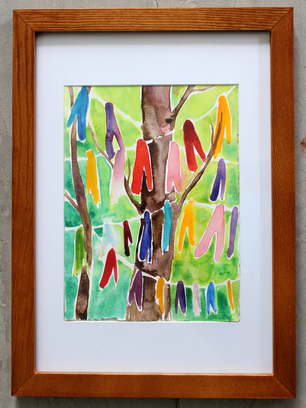Watercolour on paper  Framed
