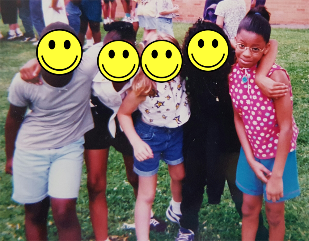 Field Day, May 1996 with my friends. We were the corny version of Bone Thugs 'N Harmony. I was the Krayzie of the group. Don't ask why.