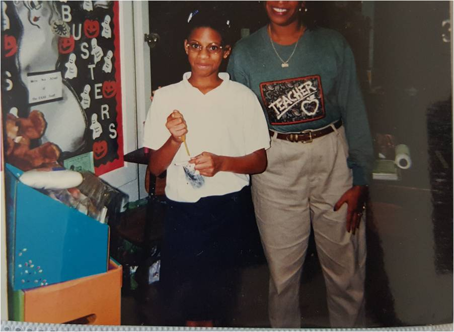 My favorite teacher and I on my 11th birthday in '97.
