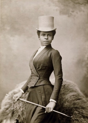 This 19th century woman is SO FLY! OMG.
