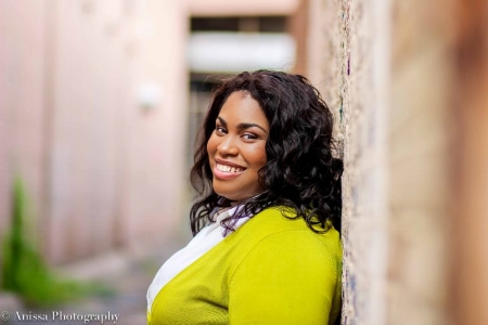 Photo: Angie Thomas, author of The Hate U Give. Set to release Feb. 28, 2017./ picture taken by Anissa Hidouk