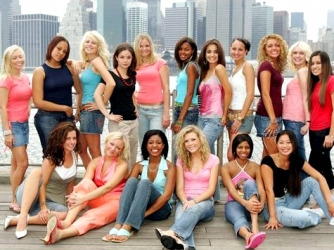 MTV's Miss Seventeen. I am sitting at the bottom in pink.