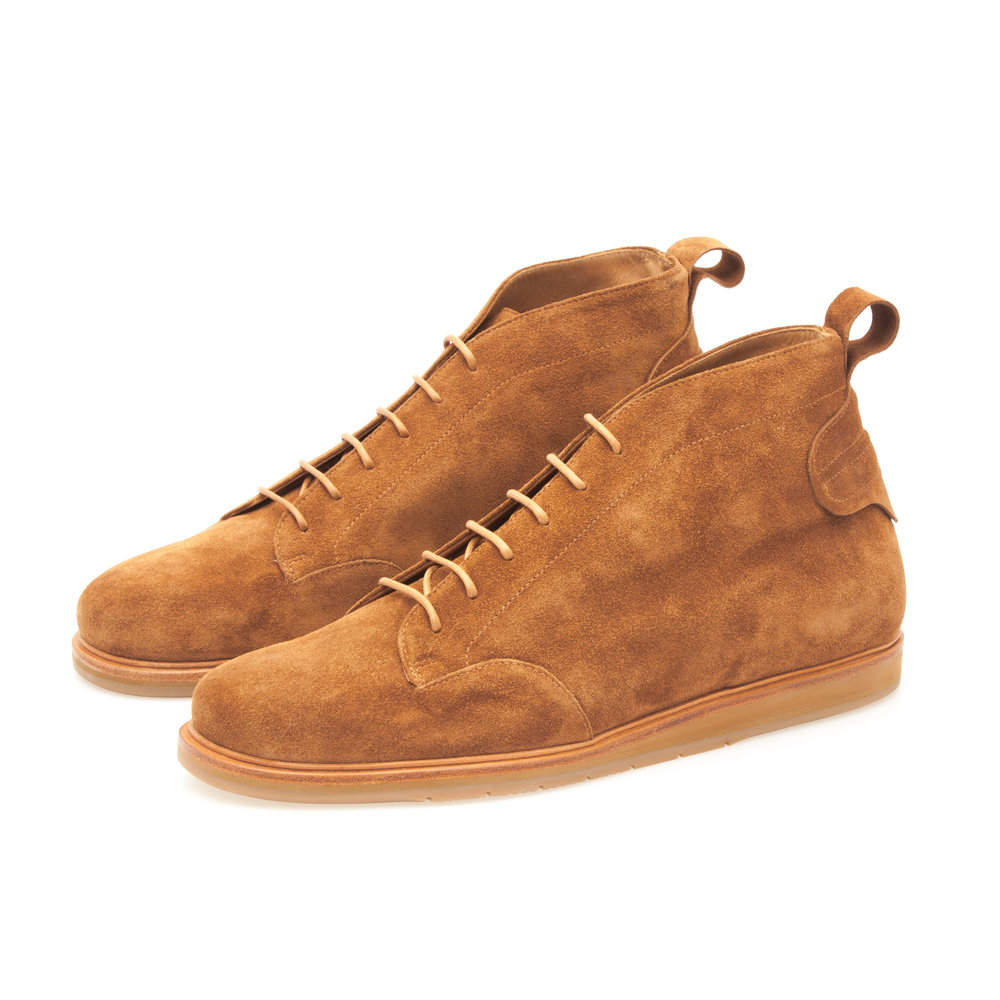 Derby Sneaker Chukka in Tan Suede