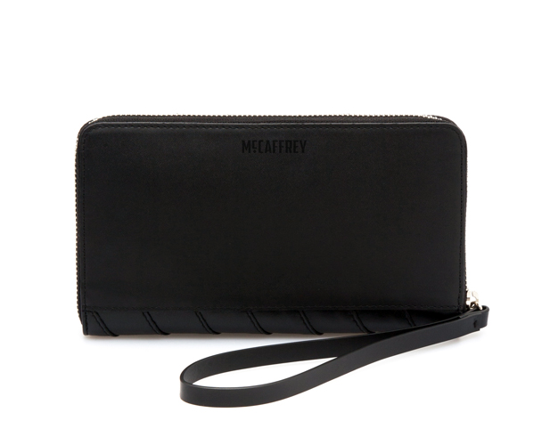 Zip Travel Wallet in Black Calfskin