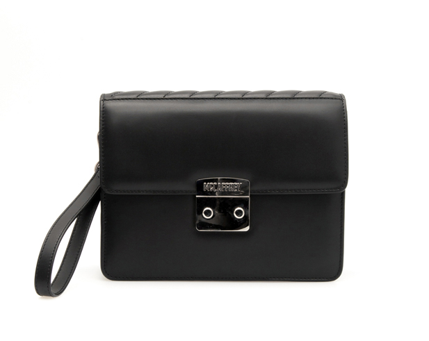 Clutch Bag in Black Calfskin