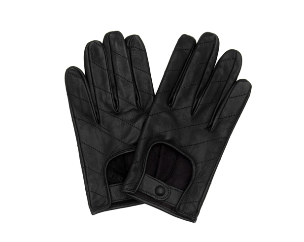Gloves in Black Goatskin