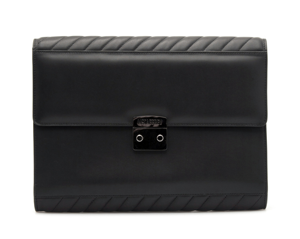 Document Holder in Black Calfskin