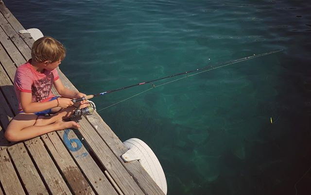 Gone Fishing.  #summersup #quietmoments #motherofboys #preciousmoments