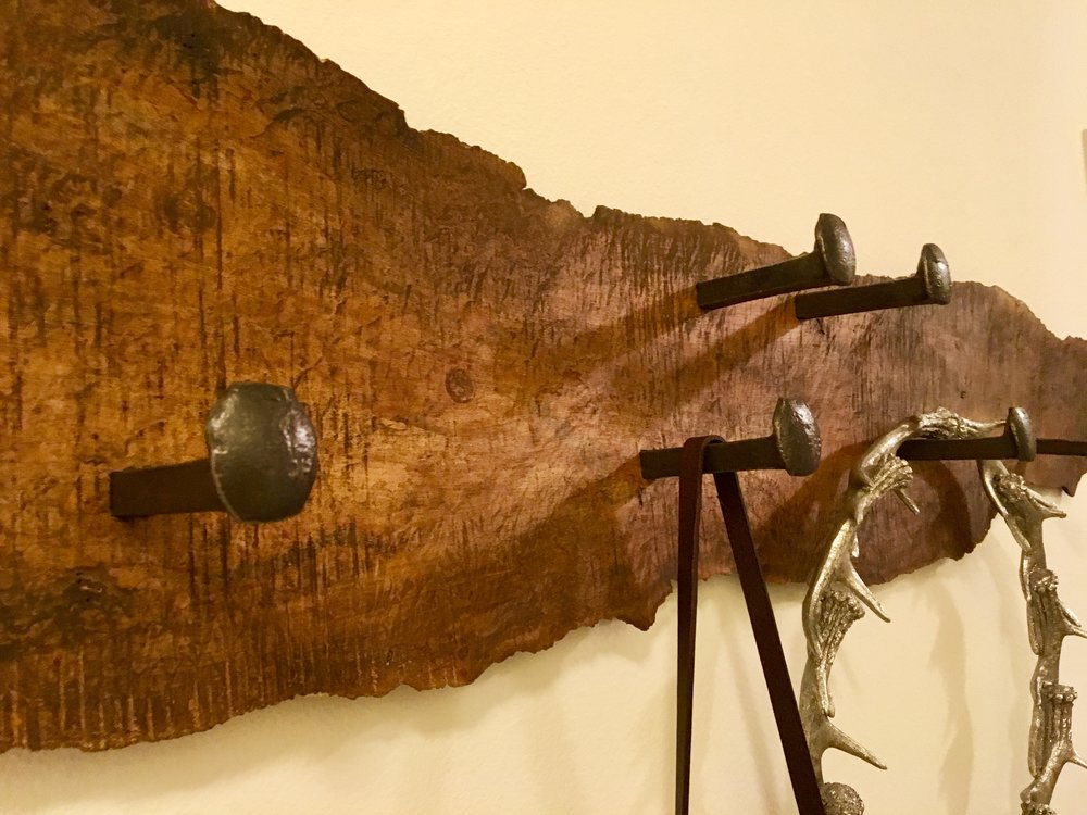 Maple Live Edge Coat Rack