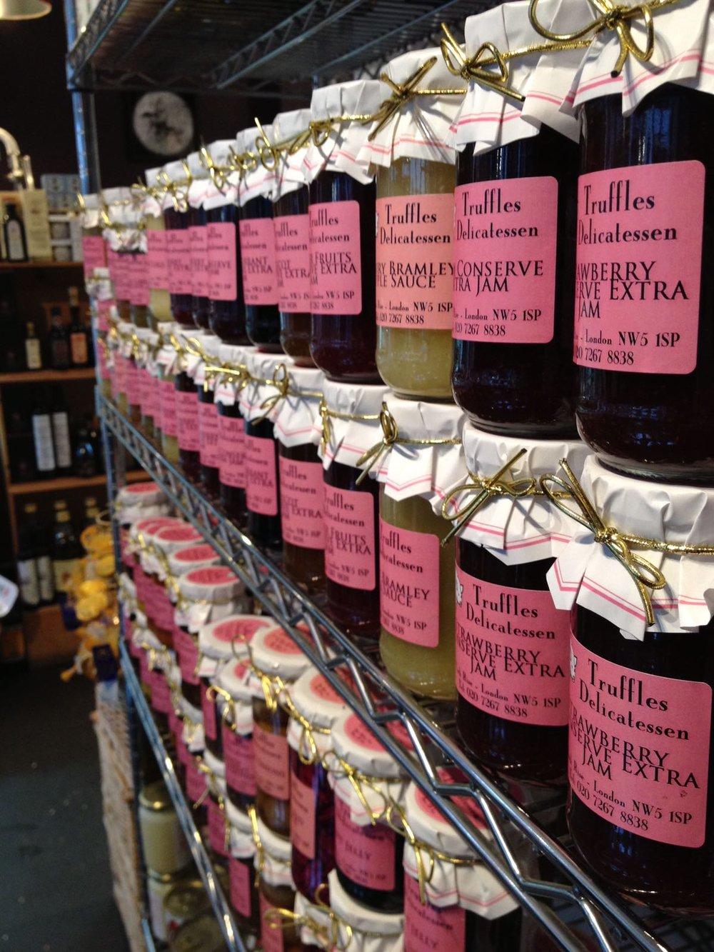 Our own range of farmhouse jams, chutneys and preserves