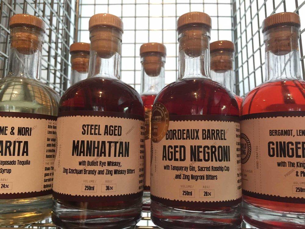 Barrel aged Negroni, Steel aged Manhattan, Margarita and more!