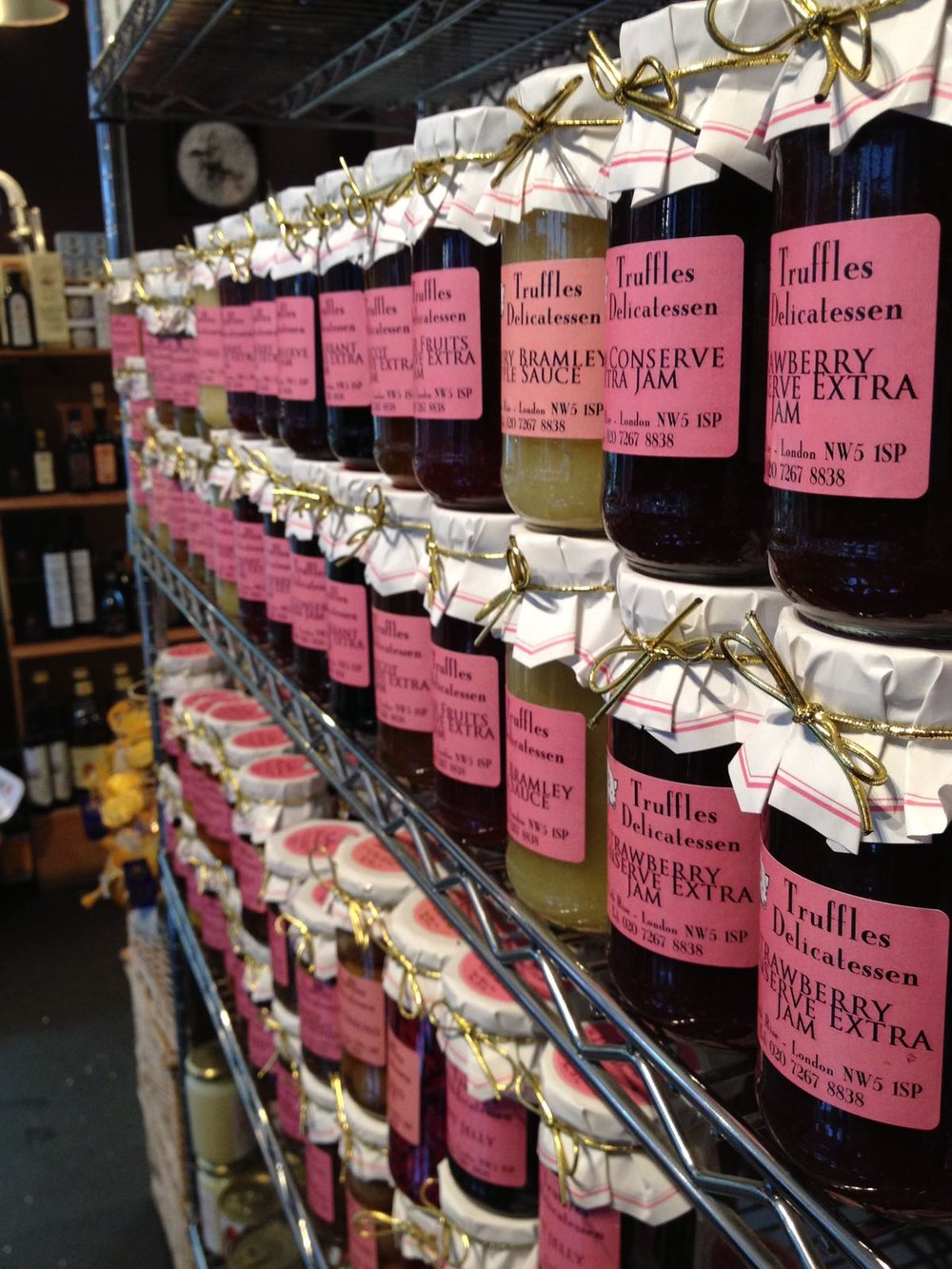Truffles Deli jams and preserves... great foodie stocking stuffers!