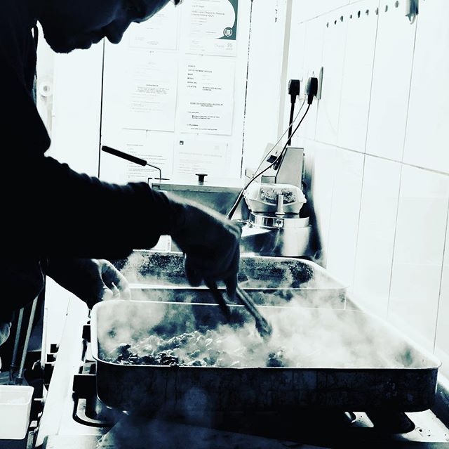 When you do the night shift with your boy to make some delicious food for the pop up at the deli tomorrow slow cookings a bitch 🙈🙊 . . . @adam.hardiman #legend #foodislife #chefslife #popup #delilife #foodfun #instafood #realtime #reallife #passion #nw5 #theworldthroughthedeli #lovecooking #makingpeoplehappy #lovemylife