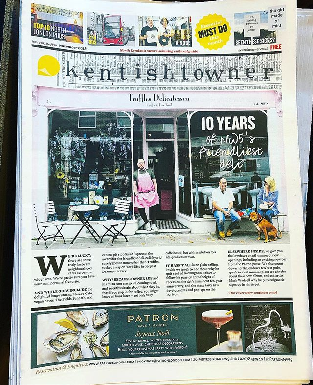 Fresh off the press this months copy of the #kentishtowner and there's lil old me on the front cover for our up coming 10th birthday! I seriously can't believe it 10 years!! . . Thank you so very much to @stephenemms for writing the most beautiful pice on my life as we no it!! . What a stunning writer! 🙏❤️ @londonbelongs @timeoutlondon @sundaytimesfood @eatinguplondon @guardianfeast @evening.standard @metro.co.uk @adam.hardiman .  #nw5 #londonlife #mylife #news #paper #foodstyle #foodie #bloggers #localshop #backstreet #deli #article #writeups #kentishtowner #foodstagram #foodiesofinstagram #foodielifestyle #foodstyle #lovemylife #thankyou #❤️