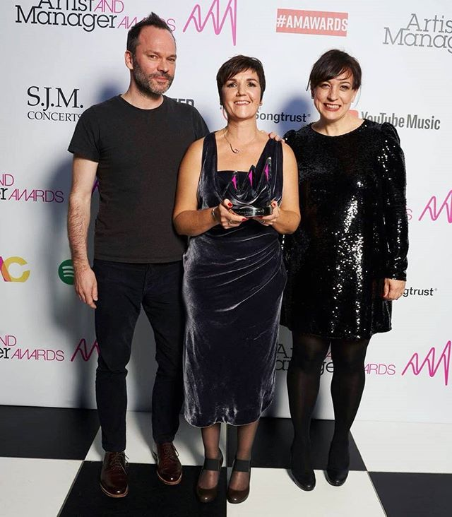 Congratulations again to our Founder and Managing Director Carol on winning the Writer and Producer Manager award and to all of the nominees and winners at the @am_awards. A big thanks also to @mmf_uk for a great night and to @songtrust for sponsoring the award!