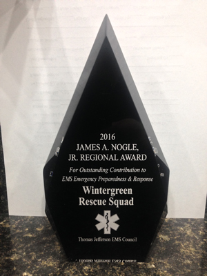 The James A. Nogle Jr. Regional Award for Outstanding Contribution to EMS Emergency Preparedness & Response.