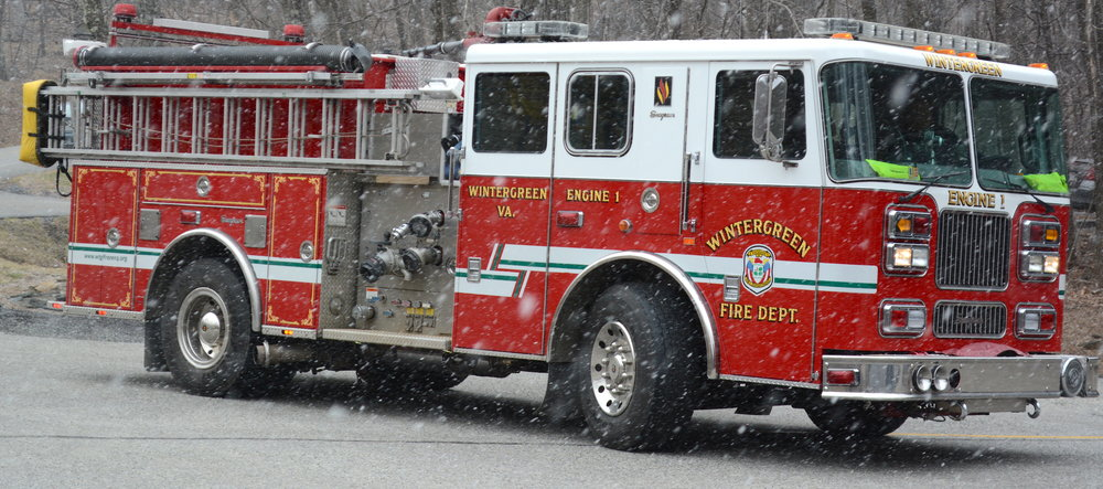Engine 1  - 2003 Seagrave Marauder II, 1500 GPM Waterous Pump, Foam A/B, Detroit Series 60 515hp Engine, Automatic Snow Chains.