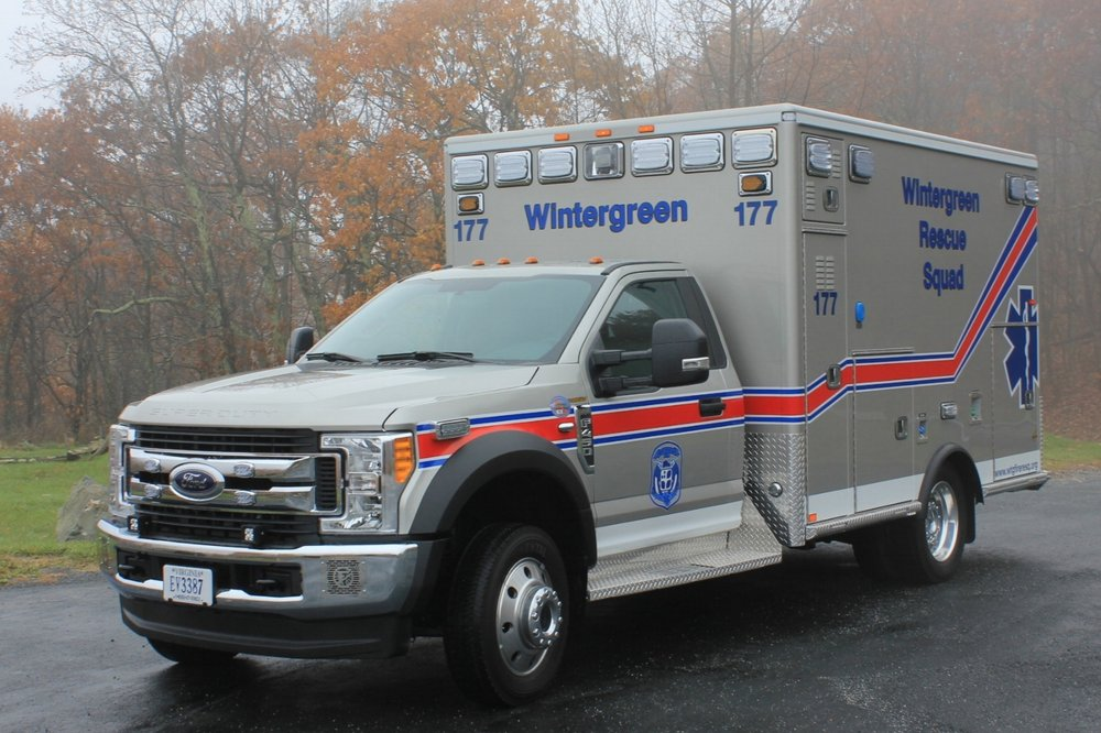 Medic 177  - 4x4 2017 Ford F-450 ALS AEV Ambulance. This unit is equipped with a full complement of Advanced Medical Supplies and LED lighting.
