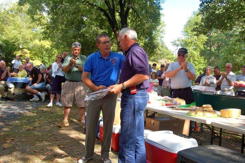 Eddie being honored by all of his Nelson County peers with a service award at a 2010 volunteer gathering.