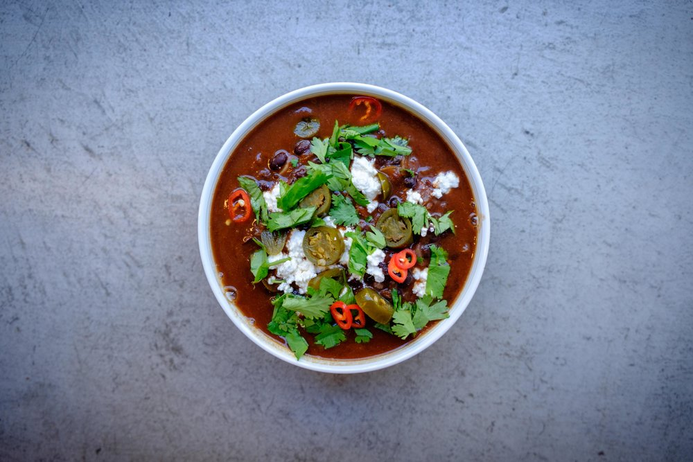 Spicy Black Bean & Jalapeno Soup