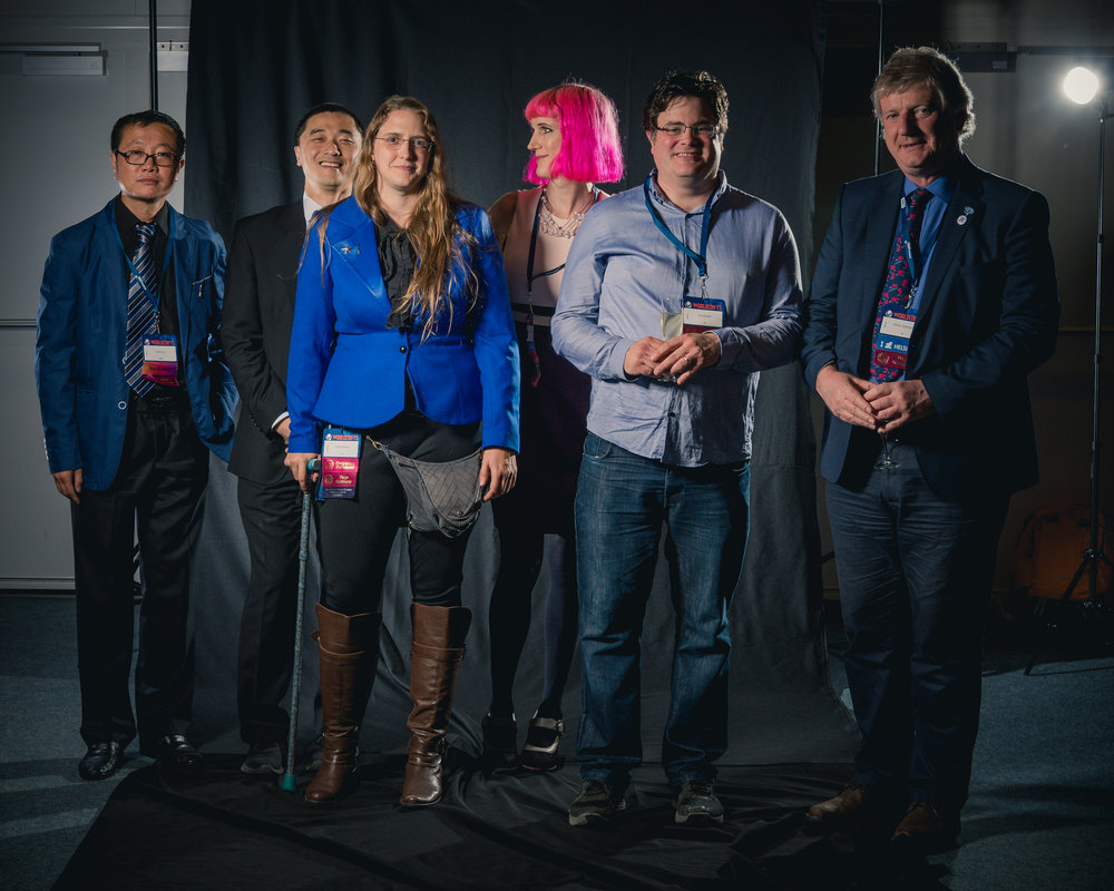Image:  Portrait photoshoot at Worldcon 75, Helsinki, before the Hugo Awards: Cixin Liu, Ken Liu, Ada Palmer, Charlie Jane Anders, Jon Oliver and Oliver Johnson  by Henry Söderlund.  Creative Commons Attribution 4.0 International license  via  Wikimedia Commons .  Thumbnail Image:  Horsehead Nebula Christmas 2017 Deography  by Dylan O'Donnell. Public Domain via  Wikimedia Commons .