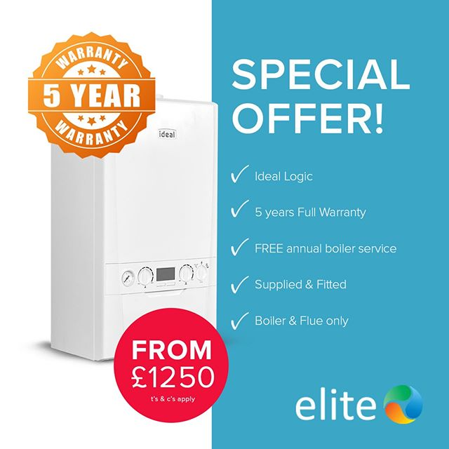 NEED A NEW BOILER?  Take advantage of this fantastic Boiler offer & reserve today: ✔️ IDEAL LOGIC ✔️ 5 YEAR Warranty! ✔️ FREE annual boiler service ✔️ FINANCE available ✔️ Fitted by Ideal accredited installers ✔️ Boiler & Flue Only  Call us today on 01482 770550 or visit our website https://zurl.co/2yAg
