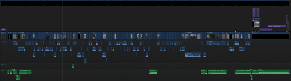 "Picture Lock Timeline of a short film ""The Brown Box"""