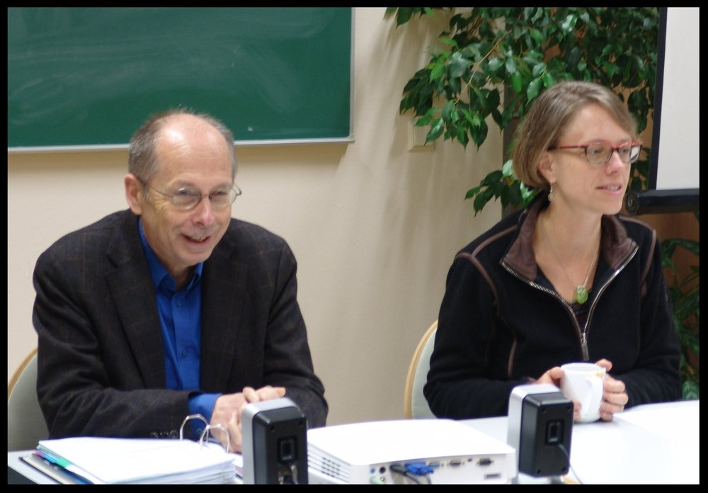 Theodor Dieter and Sarah Hinlicky Wilson teaching at the annual Studying Luther in Wittenberg seminar