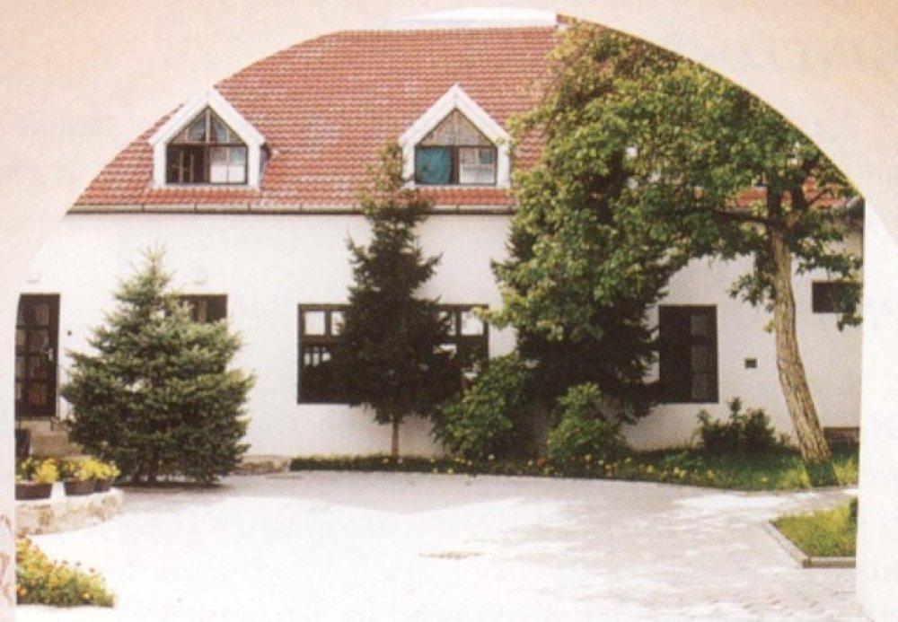 The courtyard of the Lutheran church in Svätý Jur