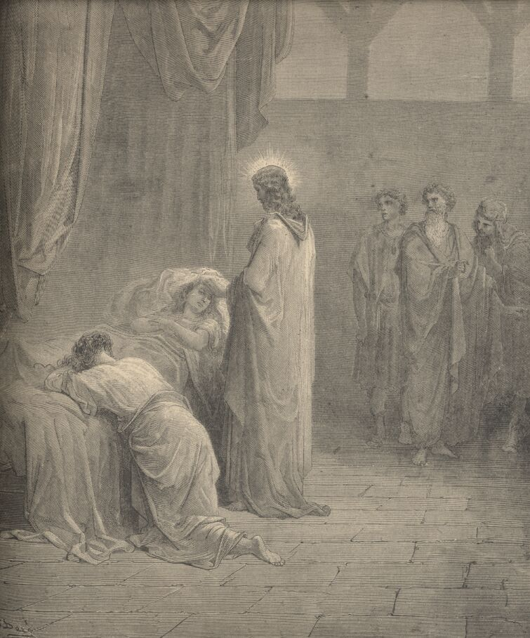 "Gustave Doré, ""Raising the Daughter of Jairus"""
