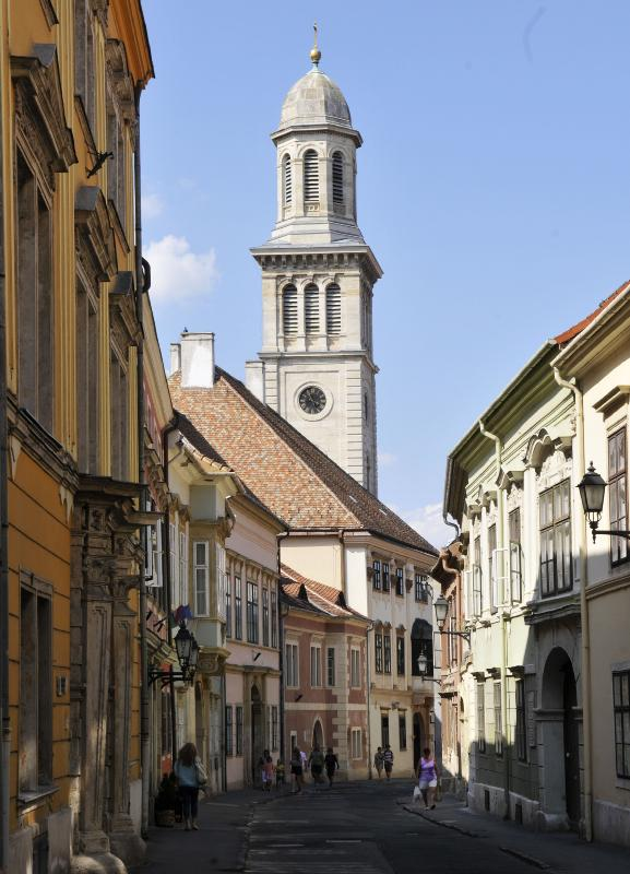 The tower of the Lutheran church in Sopron.