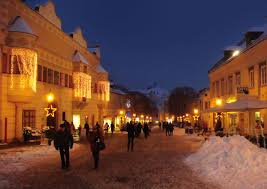 The snowy streets of Eisenstadt.