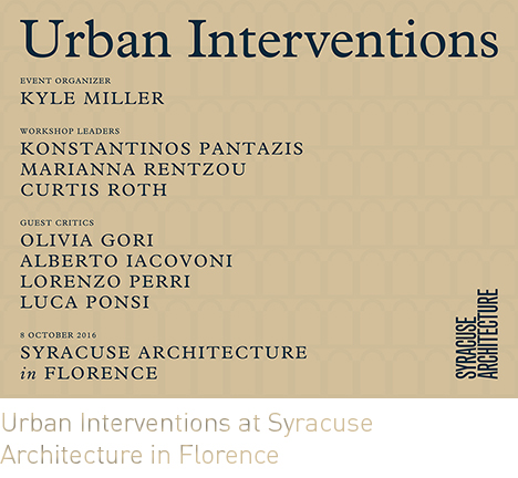 Urban Interventions at Syracuse University in Florence