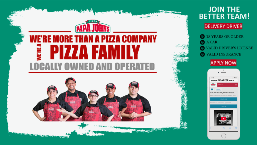 delivering with papa johns is a great part time or second job and its also a great opportunity to start your career here it doesnt stop there
