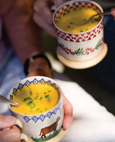 Warm yourself up with this carrot soup – it's quick, easy and delicious