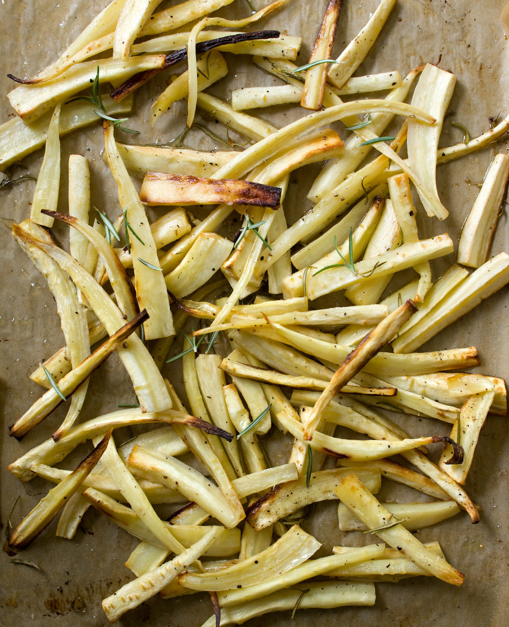 Candied parsnip fries are the perfect substitution to potatoes. Serve alongside your favourite protein